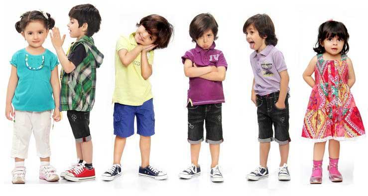 Các kiểu quần áo trẻ em