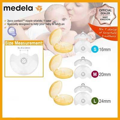 Các loại núm trợ ty Medela