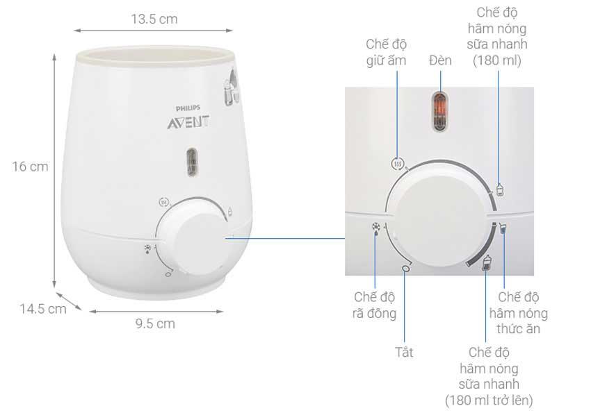 Cách sử dụng máy hâm sữa Avent